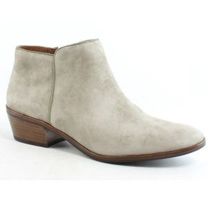 SAM EDELMAN Taupe Suede Petty Ankle Booties